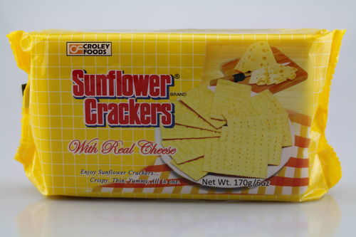 Sunflower Crackers With Real Cheese (170 g)
