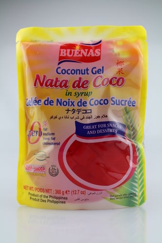 Nata de Coco in Syrup - Red (360g)