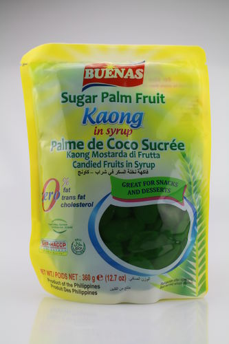 Sugar Palm Fruit- KAONG in Syrup Green (360g)